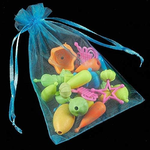 150 Blue Wedding Party Gift Bags Candy Sheer Bag Jewelry Pouches