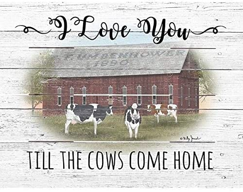 Wood Pallet Art Cows Come Home Farmhouse Rustic Birchwood Handmade