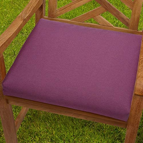 19 inch Purple Orchid Chair Cushion Fabric Solid Traditional Transitional Fade Resistant Uv Water