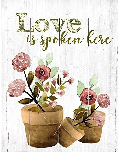 Wood Pallet Art Love is Spoken Farmhouse Rustic Birchwood Handmade