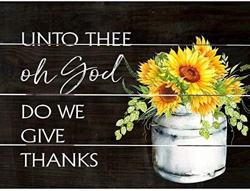 Wood Pallet Art Oh God We Give Thanks Farmhouse Rustic Birchwood Handmade