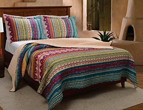 Greenland Home 3Piece Southwest Quilt Set - Diamond Home USA