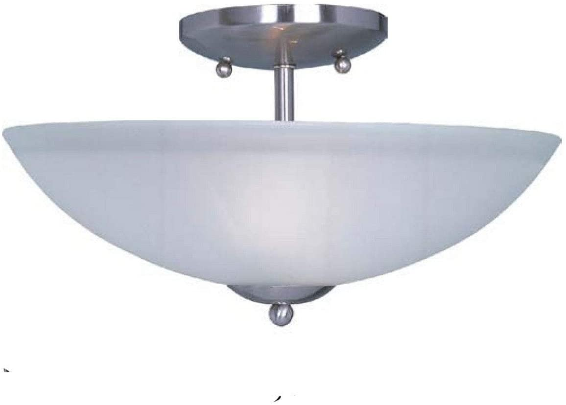 Nickel 2 Light Semi Flush Mount Modern Contemporary Metal