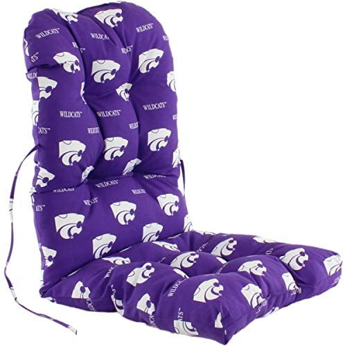 Kansas State Wildcats Chair Cushion Color Solid Casual Polyester Uv Resistant