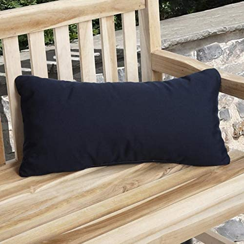 Indoor/Outdoor Green Pillow Made (Set 2) Blue Solid Traditional Transitional Fade Resistant Uv Water