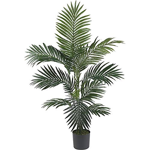 Green Kentia Palm Tree Artificial Plants Tropical Indoor Palmtree Howea Forsteriana Floral Botanical Arecaeae Beachscape Oasis Cottage 4 Foot