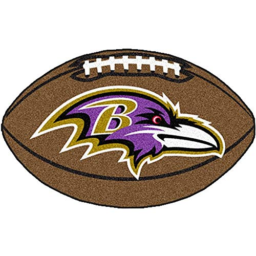 "22""x35"" NFL Baltimore Ravens Mat Sports Football Shaped Rug Team Logo Printed Area Rug Floor Carpet Bedroom Bath Living Room Mats Boys Kids Team"