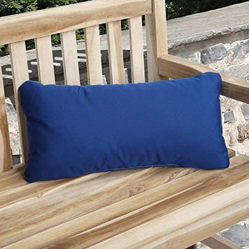 Indoor/Outdoor True Blue Pillow Made (Set 2) Solid Traditional Transitional Fade Resistant Uv Water