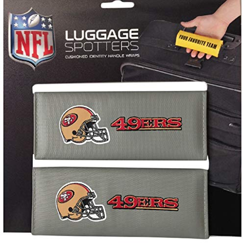 Silver NFL San Francisco 49ers Luggage Spotters Football Themed Patented Luggage Grips