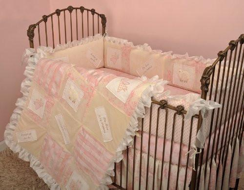 Cotton Tale Heaven Sent Girls 4 Piece Crib Bedding Set