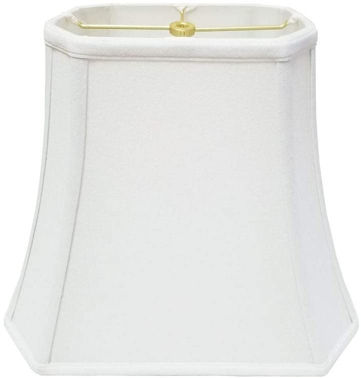 Rectangle Cut Corner Linen White Lamp Shade (4 X 6) (7 10) 8 25 Traditional