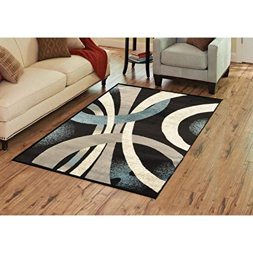Area Rug 6100 Gray Blue Door Mat 2 Ft 3 2' X 3' Blue Grey Novelty Polypropylene Latex Free