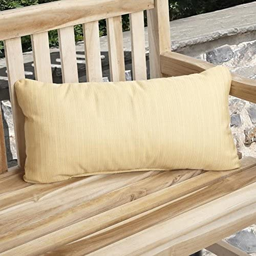 Indoor/Outdoor Textured Yellow Pillow Made (Set 2) Solid Traditional Transitional Fade Resistant Uv Water