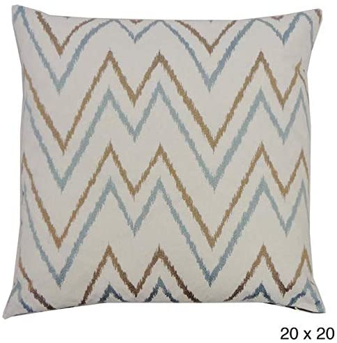 Handmade Teal Brown Throw Pillow Color Cotton