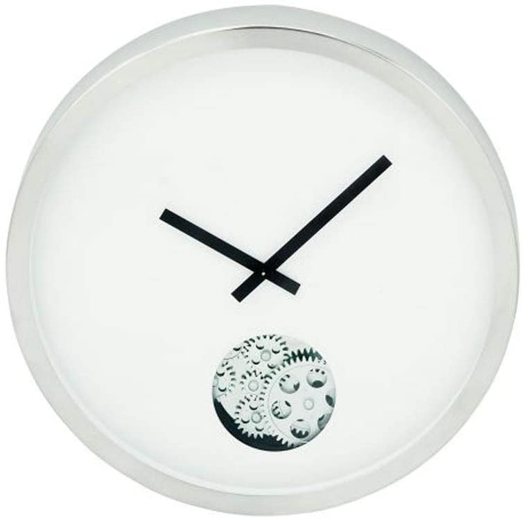 Modern Stainless Steel Wall Clock Color Contemporary
