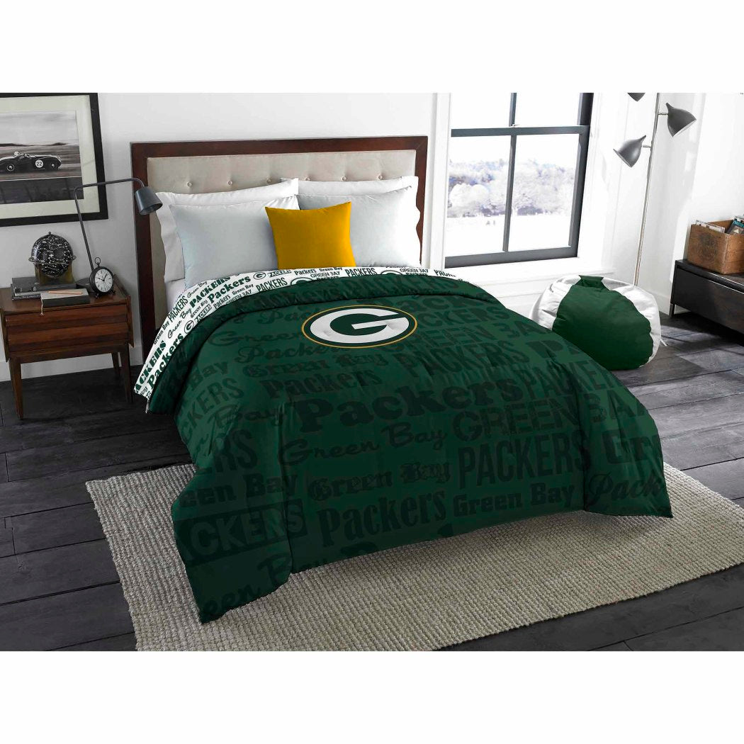 NFL Green Bay Packers Twin/Full Bedding Comforter - Diamond Home USA