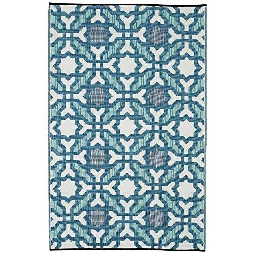 Handmade Multicolor Blue Rug 4' X 6' (India) Geometric Modern Contemporary Rectangle Polypropylene Synthetic Latex Free Pet Friendly Stain Resistant