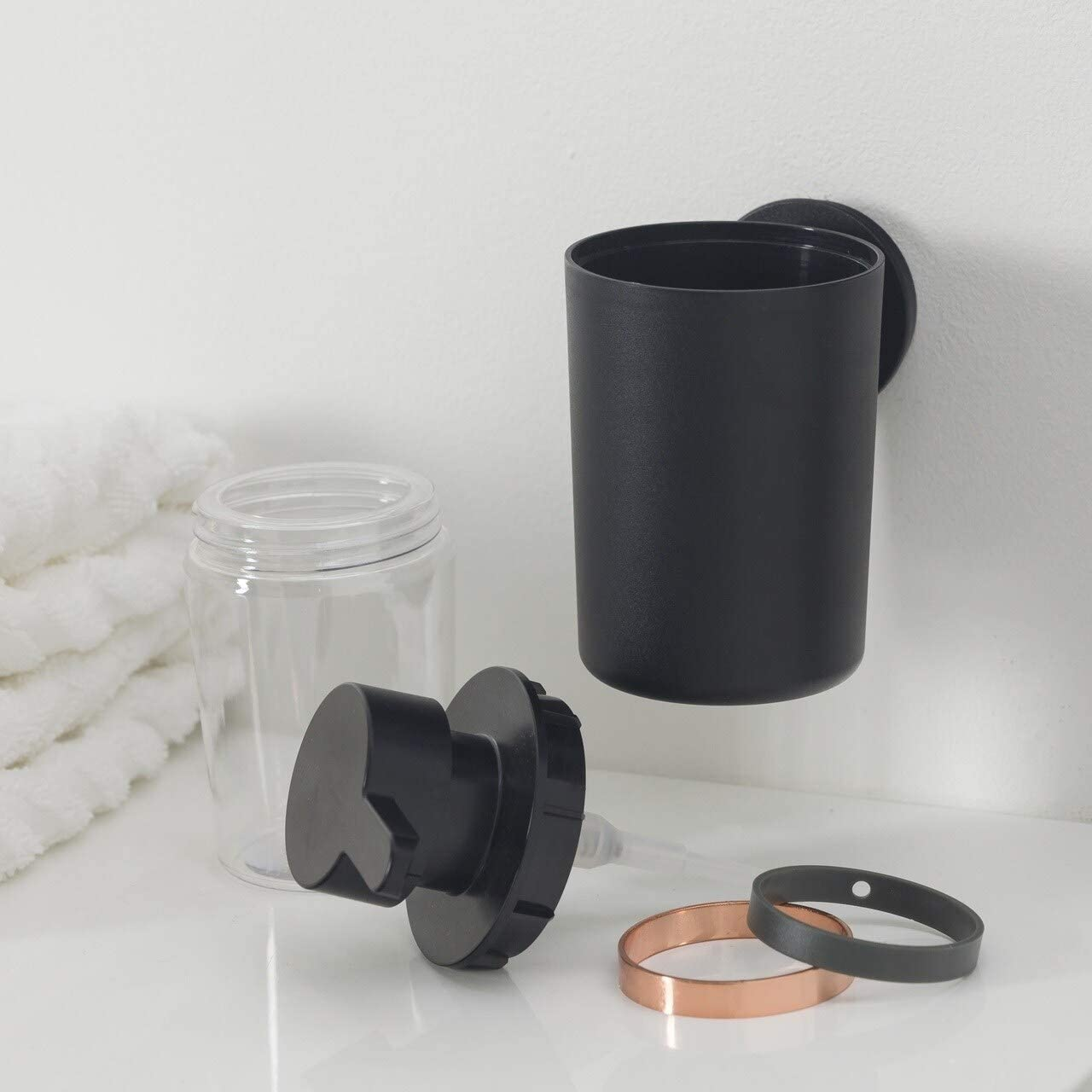 Soap Dispenser Urban Matte Black Copper Solid Color Modern Contemporary Metal Plastic