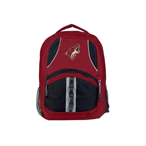 18 5 Incn Maroon NHL Coyotes Backpack Sports Theme School College Bag Polyester