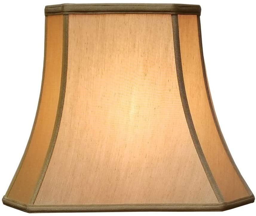 Rectangle Cut Corner Antique Gold Lamp Shade (7 X 9) (10 25 16) 12 25 Traditional