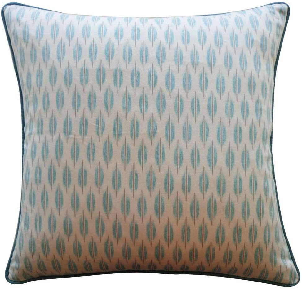 "Handmade Arrow Aqua Pillow 20"" X Cotton"