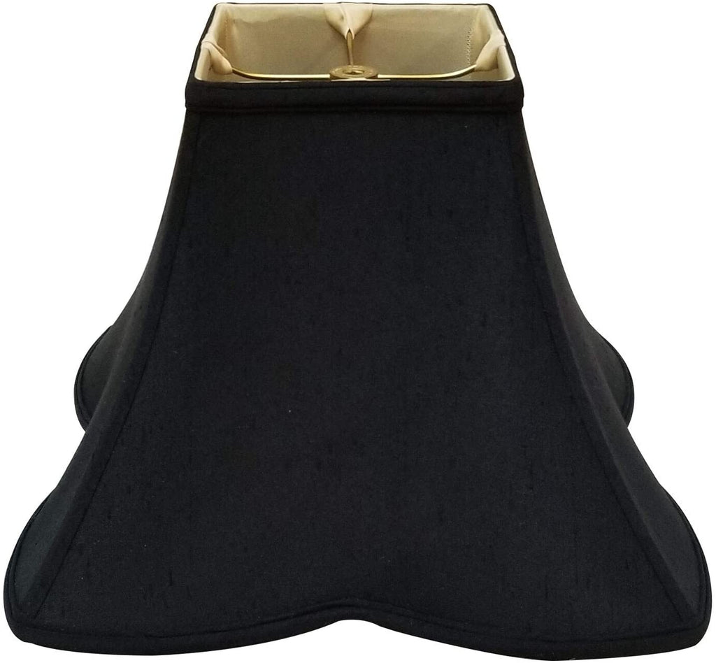 Sharp Corner Fancy Square Basic Lamp Shade Black 5 5 X 12 10 Traditional