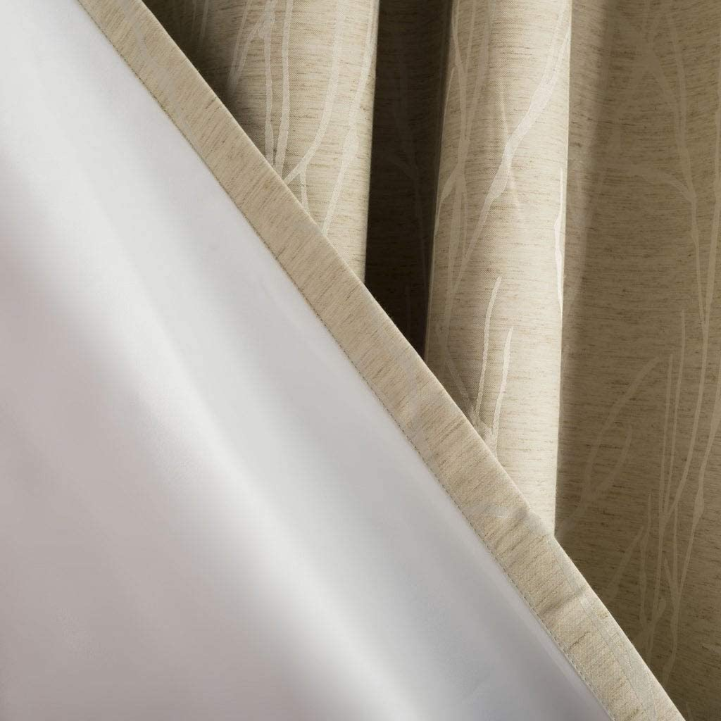 "UKN 84 Inch Single Curtain Panel 84"" L X 52"" W Beige Solid Farmhouse Modern Contemporary Linen"