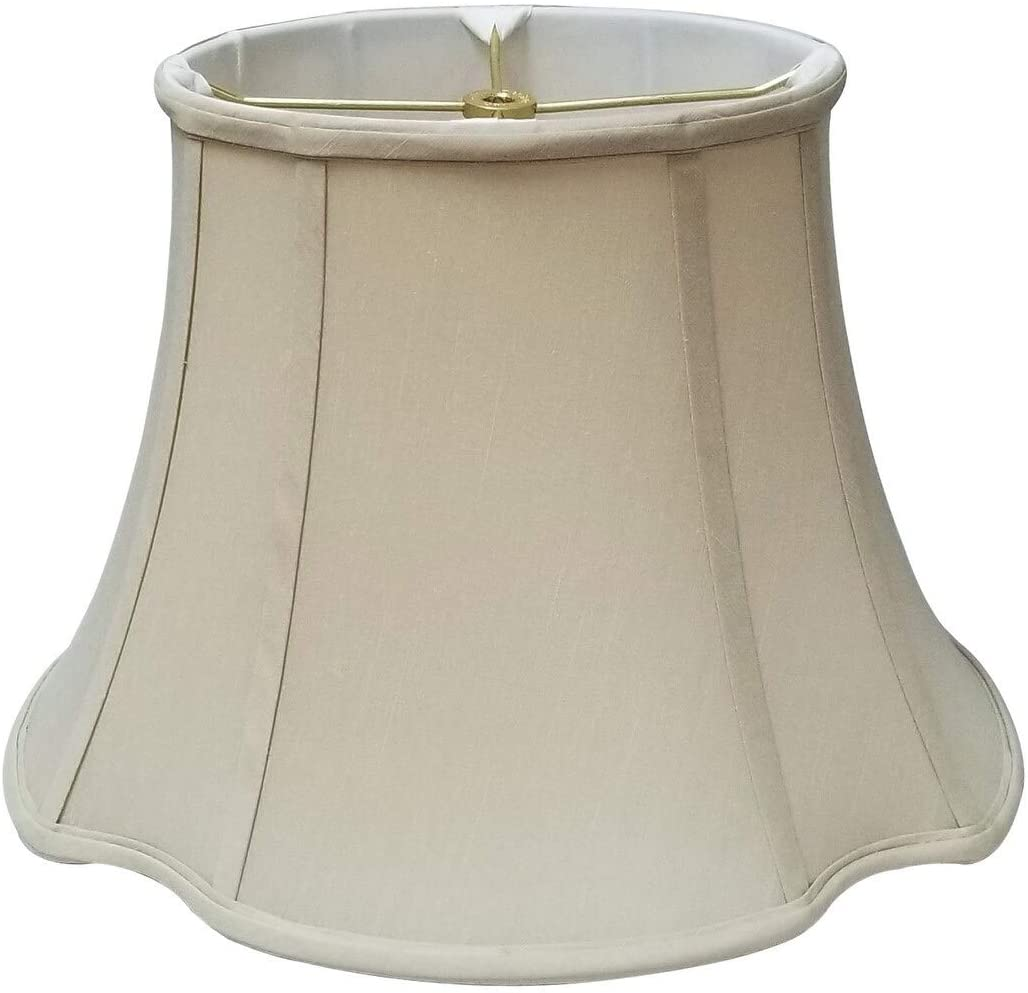 Oval Inverted Corner Beige Lamp Shade (7 75 X 10) (14 74 17) 11 75 Traditional