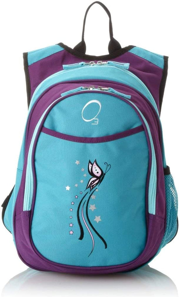 Kids Turquoise Butterfly Backpack Purple Pink Stars Cooler Insect Starlet School Bag Strap Back Polyester