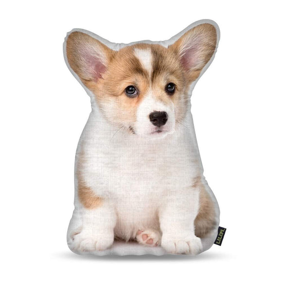 15 Inch Corgi Puppy Dog Shaped Accent Pillow Cute Pet Lover Animal Pillow Real Doggy Puppy Decorative Cushion Artistic Graphic Pillow Sofa Couch