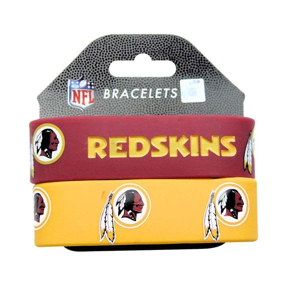 Red Yellow NFL Washington Redskins Rubber Bracelets Football Themed Wrist Bands