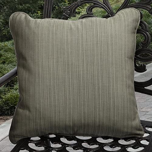 Indoor/Outdoor Textured Sage Pillows Made (Set 2) Green Solid Traditional Transitional Fade Resistant Uv Water