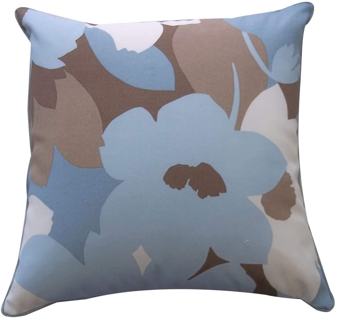 Handmade 20 X 20 inch Robin Outdoor Throw Pillow (United States) Blue Polyester