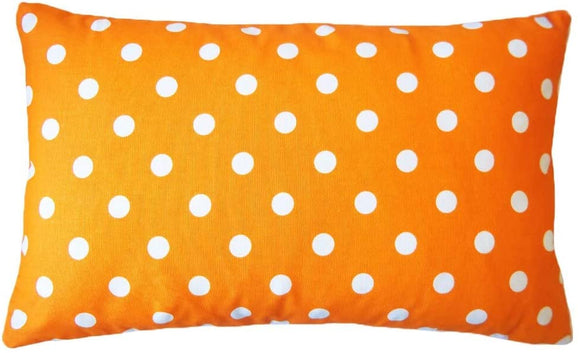Handmade Dot Orange Down Lumbar Pillow 12