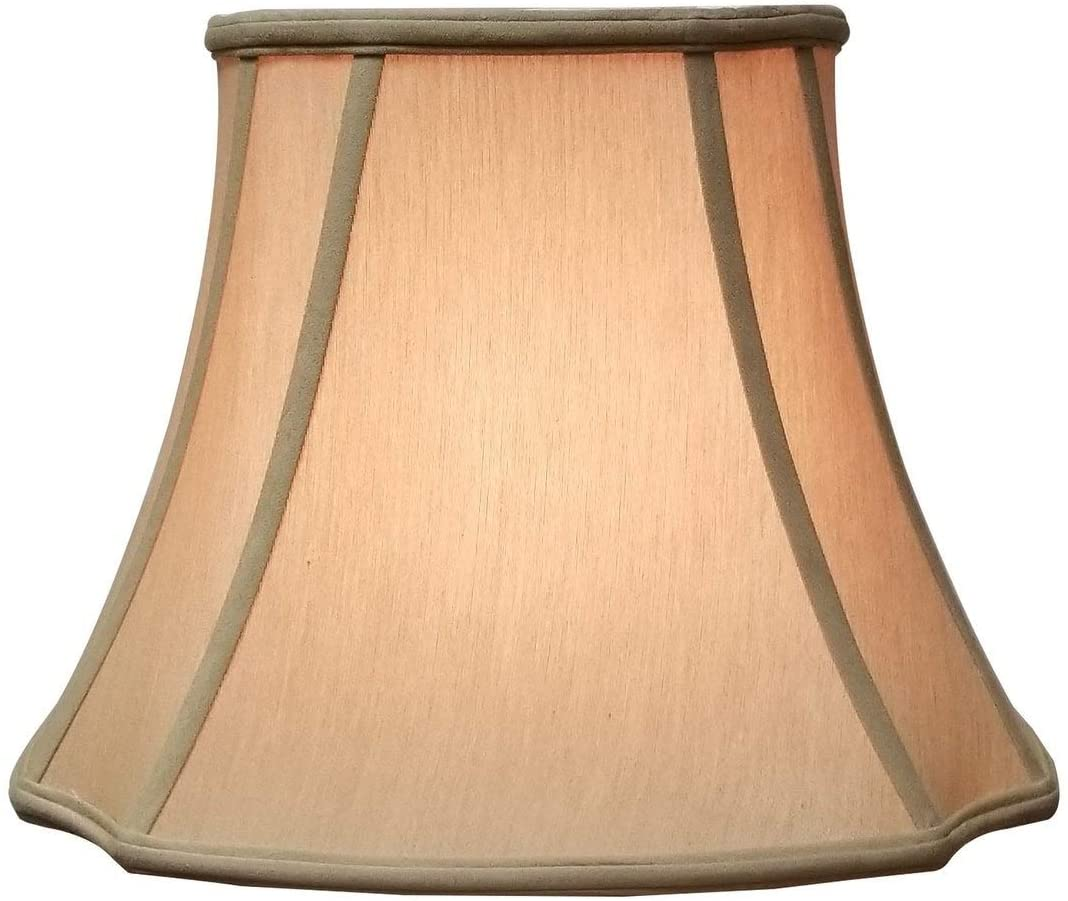 Oval Inverted Corner Antique Gold Lamp Shade (5 75 X 8) (10 75 13) 9 75 Traditional