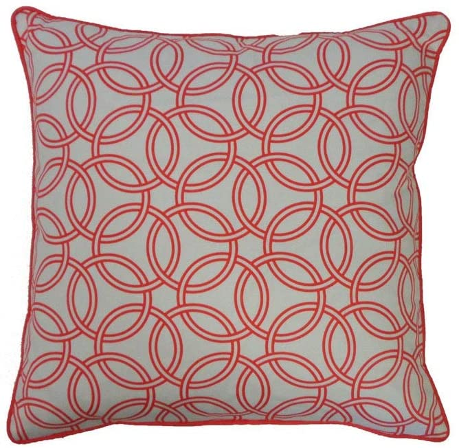 "Handmade Coral Throw Pillow 20"" X Cotton One"