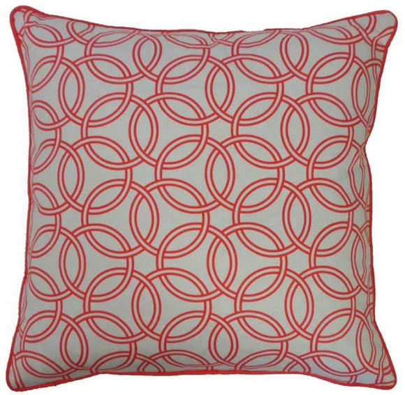 Handmade Coral Throw Pillow 20
