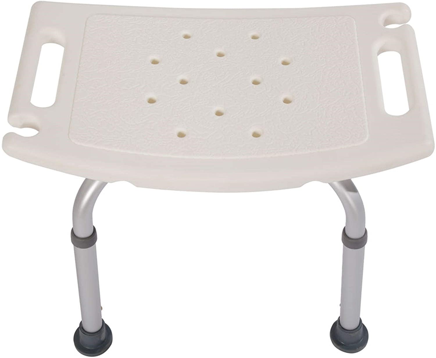 Aluminium Alloy Bath Chair Shower Stool Without Back White Solid Color Modern Contemporary Plastic