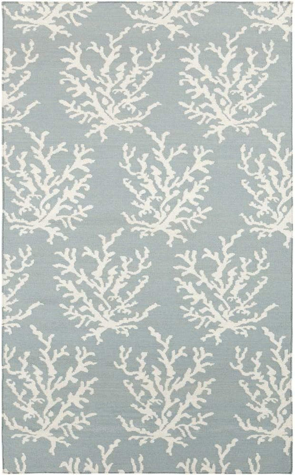 MISC Hand Woven Hornet Powder Blue Wool Area Rug 3'3