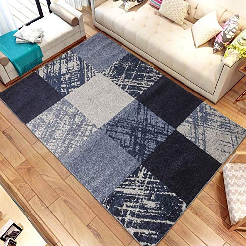 Caramel Area Rug 5 Ft 7 5' X 7' Blue Geometric Modern Contemporary Polypropylene Latex Free