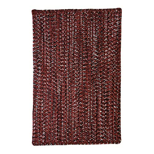Team Spirit Burgundy Black Hand Braided Vertical Stripe Rectangle Area Rug 3' X 5' Red Modern Contemporary Polypropylene Contains Latex Made Order