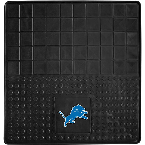 31 X 31 Inches NFL Lions Cargo Mat Football Themed Car Flatbed Trunk Vinyl Square Trunk Carpet Sports Patterned Team Logo Fan Merchandise Athletic