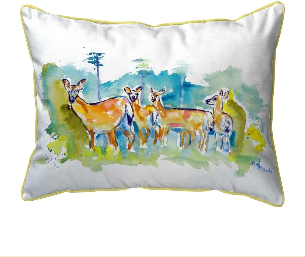Deer Herd Extra Large Zippered Pillow 22x22 Color Graphic Cabin Lodge Polyester