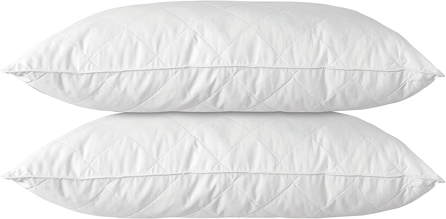 Quilted Feather Pillow 2 Pack White