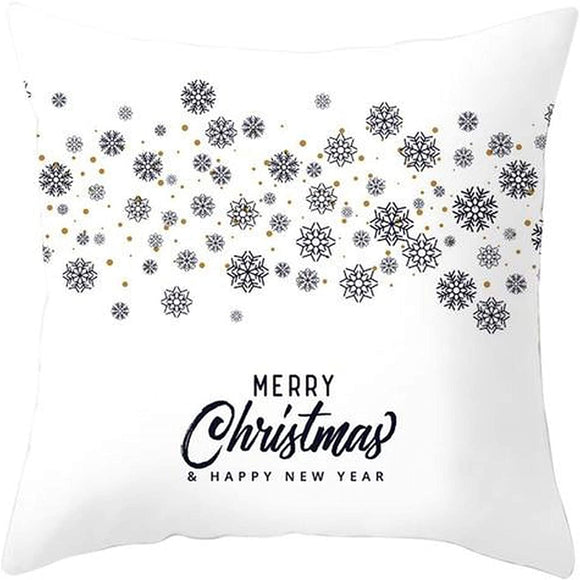 Merry Christmas Square Throw Pillow Cover 21297877 392 Color Graphic Casual Cotton Removable