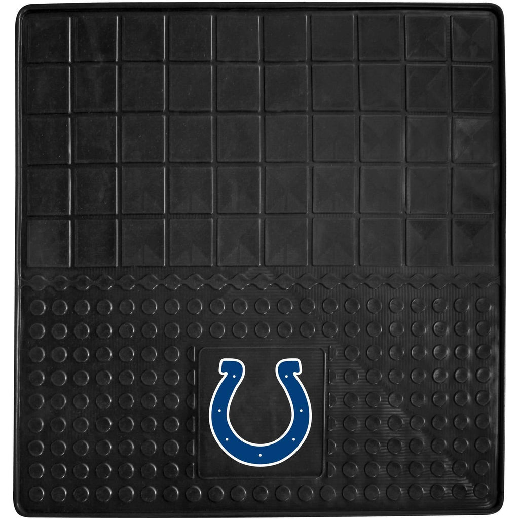31 X 31 Inches NFL Colts Cargo Mat Football Themed Car Flatbed Trunk Vinyl Square Trunk Carpet Sports Patterned Team Logo Fan Merchandise Athletic