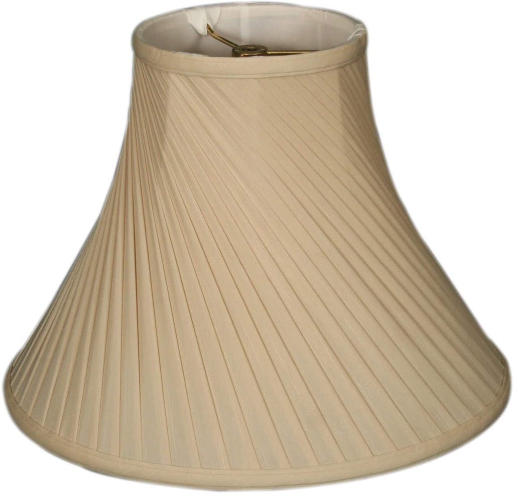 Twisted Pleat Basic Lamp Shade Beige 6 X 12 9 Traditional