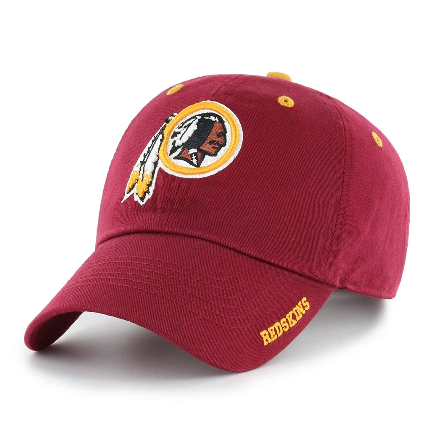 Red NFL Washington Redskins Hat Sports Football Baseball Cap Embroidered Team Logo Athletic Games Adjustable Cap/ Hat Boys Kids Unisex Fan Gift