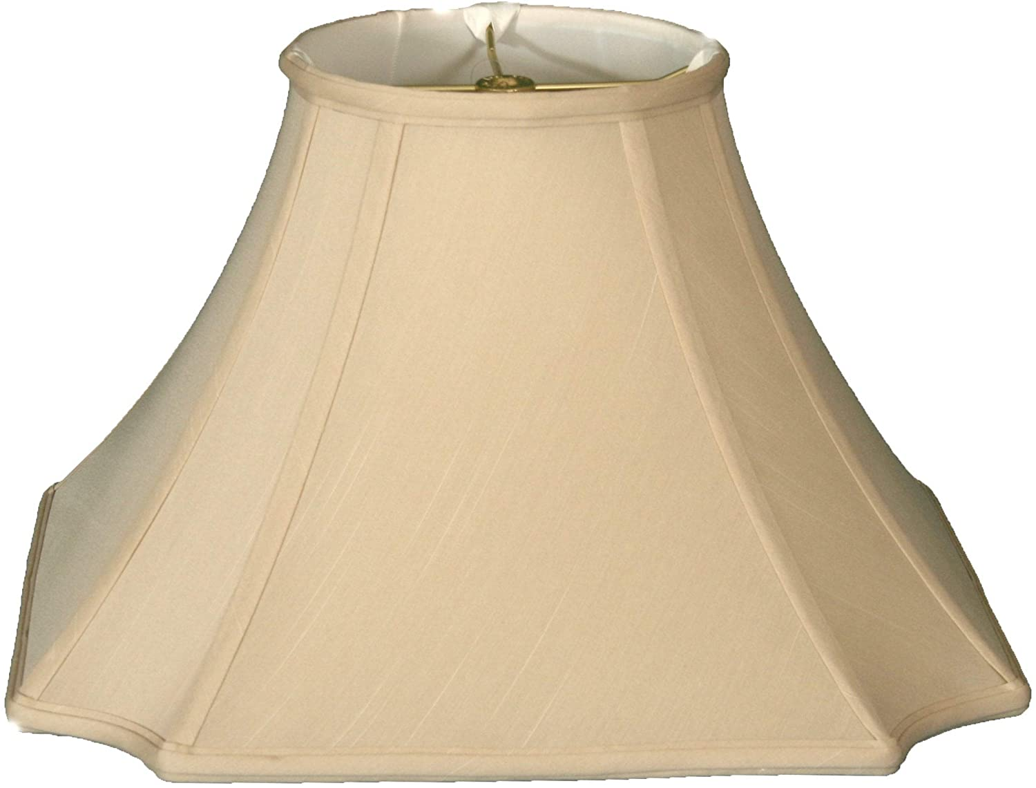 Square Inverted Cut Corner Basic Lamp Shade Beige 6 5 X 13 5 10 5 Traditional