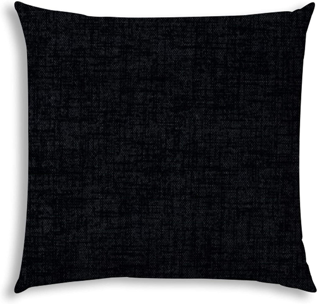 Weave Black Indoor/Outdoor Pillow Sewn Closure N/ Color Graphic Modern Contemporary Polyester Water Resistant